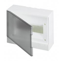 Щит ABB Basic E на 12 модулей, настенный, прозрачная серая дверь