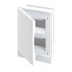 Щит ABB Basic E на 16 модулей, настенный, непрозрачная белая дверь
