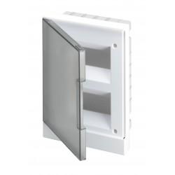 Щит ABB Basic E на 16 модулей, настенный, прозрачная серая дверь