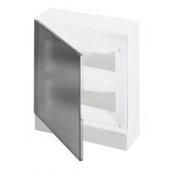 Щит ABB Basic E на 24 модуля, настенный, прозрачная серая дверь