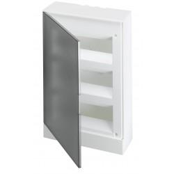 Щит ABB Basic E на 36 модулей, настенный, прозрачная серая дверь
