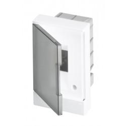 Щит ABB Basic E на 2 модуля, встраиваемый, прозрачная серая дверь