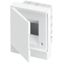 Щит ABB Basic E на 4 модуля, встраиваемый, непрозрачная белая дверь