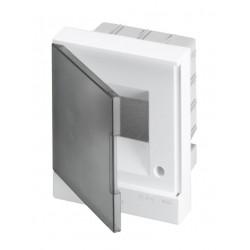 Щит ABB Basic E на 4 модуля, встраиваемый, прозрачная серая дверь