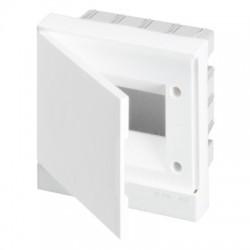 Щит ABB Basic E на 6 модулей, встраиваемый, непрозрачная белая дверь