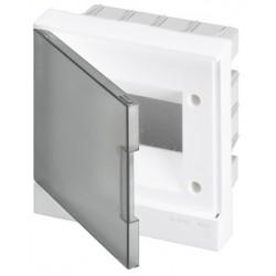 Щит ABB Basic E на 6 модулей, встраиваемый, прозрачная серая дверь