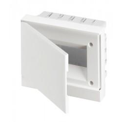 Щит ABB Basic E на 8 модулей, встраиваемый, непрозрачная белая дверь
