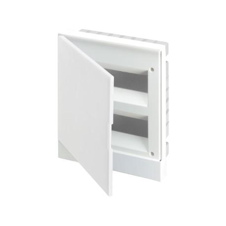 Щит ABB Basic E на 24 модуля, встраиваемый, непрозрачная белая дверь