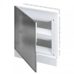 Щит ABB Basic E на 24 модуля, встраиваемый, прозрачная серая дверь