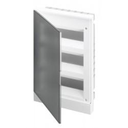Щит ABB Basic E на 36 модулей, встраиваемый, прозрачная серая дверь