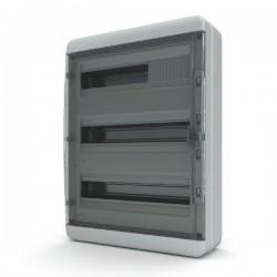 Бокc Tekfor на 54 модуля навесной IP65 прозрачная черная дверца