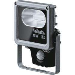 Прожектор светодиодный с датчиком движения Navigator NFL-M-10-4K-SNR-LED