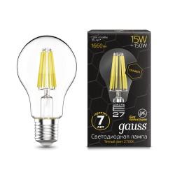 Лампа светодиодная Gauss LED Filament Graphene A60 E27 15W 2700К