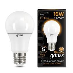 Лампа светодиодная Gauss LED A60 16W E27 3000K