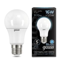 Лампа светодиодная Gauss LED A60 16W E27 4100K