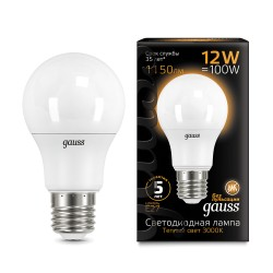 Gauss лампа светодиодная globe 230V Е27 12W 3000K