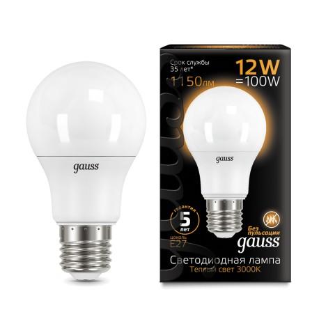 Лампа светодиодная Gauss LED A60 globe 12W E27 3000K