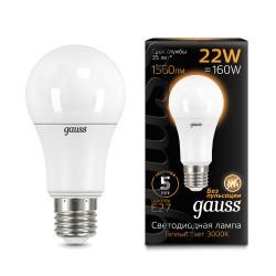 Лампа светодиодная Gauss LED A70 22W E27 3000K