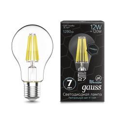 Лампа светодиодная Gauss LED Filament Graphene A60 E27 12W 4100К
