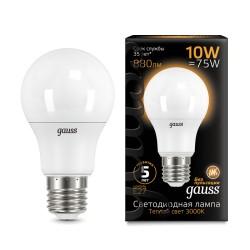 Лампа светодиодная Gauss LED A60 10W E27 3000K