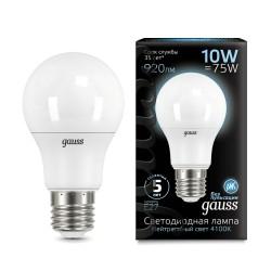 Лампа светодиодная Gauss LED A60 10W E27 4100K