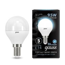 Лампа светодиодная Gauss LED Globe E14 9.5W 4100K