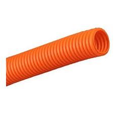 Труба  ПНД, гофрированная оранжевая с зондом