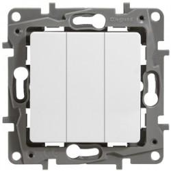 Выключатель трехклавишный (винт. зажим)