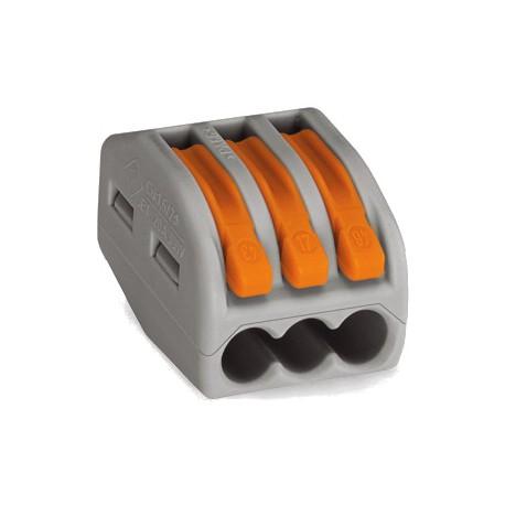 WAGO 3-проводные клеммы с рычагами без пасты