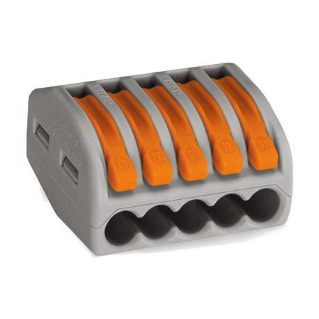 WAGO 5-проводные клеммы с рычагами без пасты