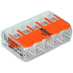 WAGO 5-проводные клеммы COMPACT с рычагами без пасты